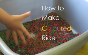 recipe for coloured rice