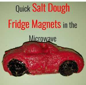 salt dough in microwave