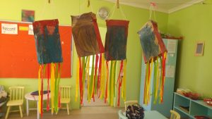 bag kites hanging