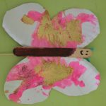 butterfly paper plate glitter