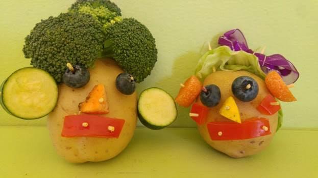 vegetable sculptures potato people kids fun art crafts