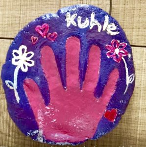 salt dough handprint, mothers day