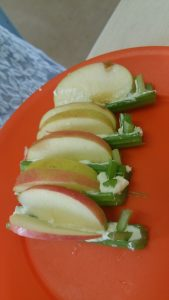 celery apple butterflies